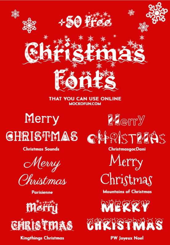 fonts are suitable for Christmas cards