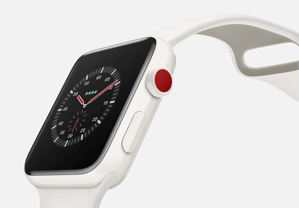 Why did Apple put a red dot on the Series 3 Watch?