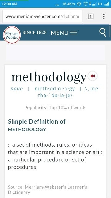 Method and methodology