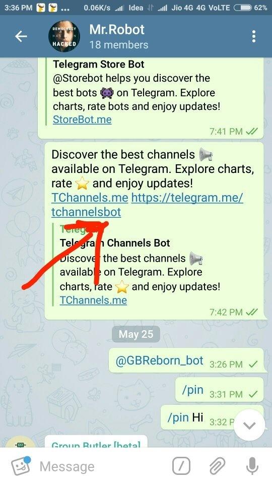 Pinned message telegram channel. telegram kannada movie channel.