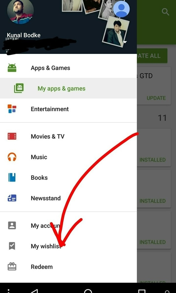 How to redeem google play codes quora its quite simple open google play store hit the burger menu fandeluxe Choice Image