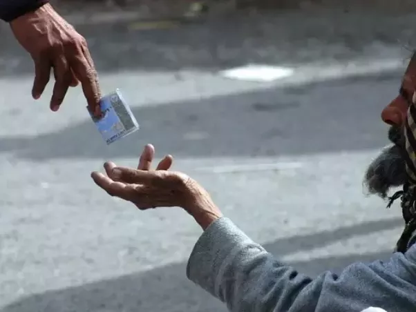 Don't give money to beggars – help them instead
