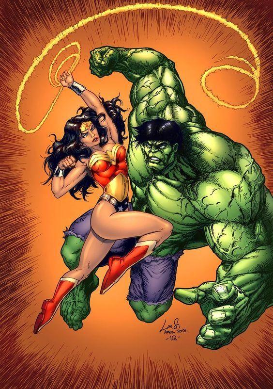 Image result for wonder woman vs hulk whip