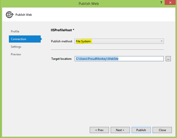 How to deploy an MVC application on IIS in a local system