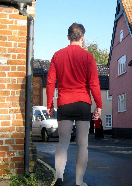 Men Wearing Stockings