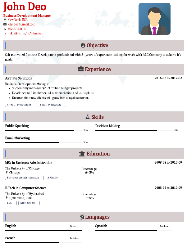 which is the best site for best free resume templates