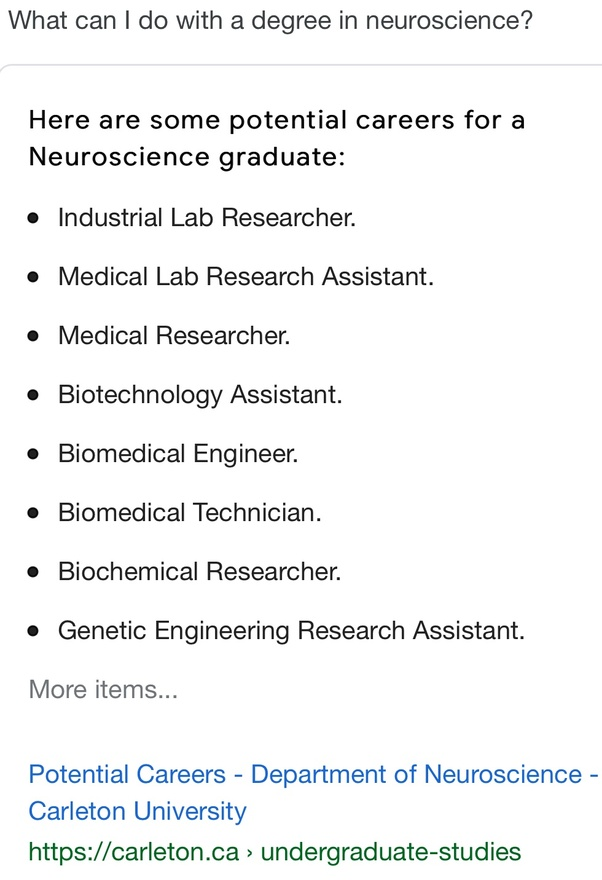 What are some of the jobs in neuroscience? - Quora