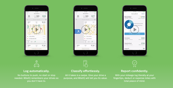 i work there but id suggest mileiq for your mileage tracking needs unlike other apps it automatically detects logs and calculates the values of your