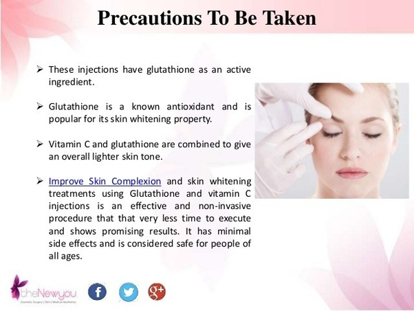 Are skin-lightening glutathione injections safe and