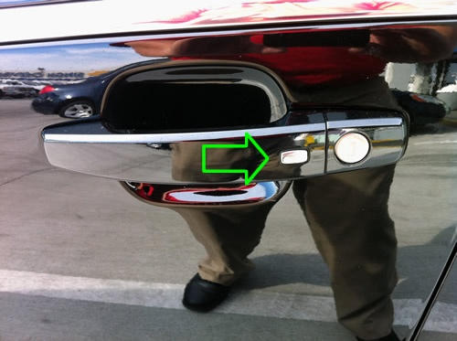 What are the buttons on the door handle of a car for? - Quora