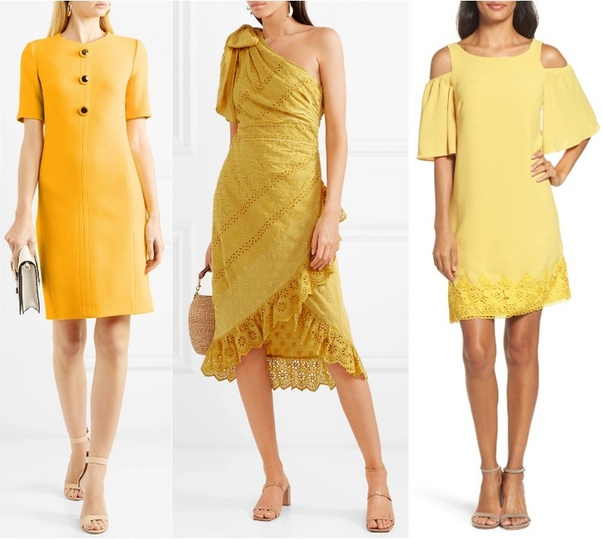What Color Of The Heels Best Match A Yellow Dress?