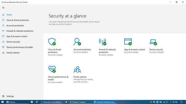 best antivirus for windows 10 quora