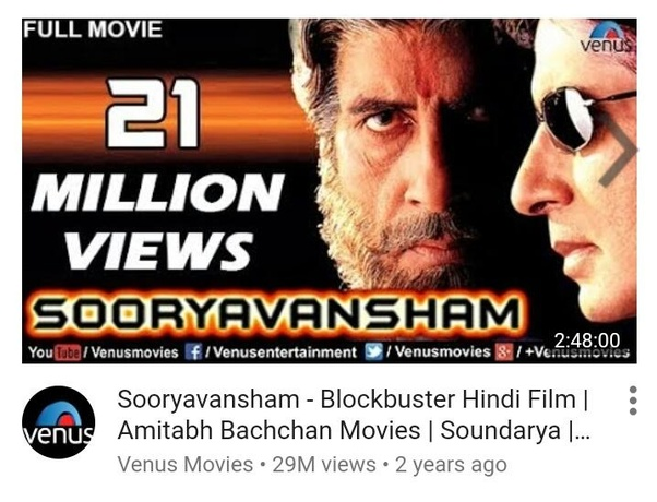 Why does Set Max repeatedly telecast Sooryavansham movie in