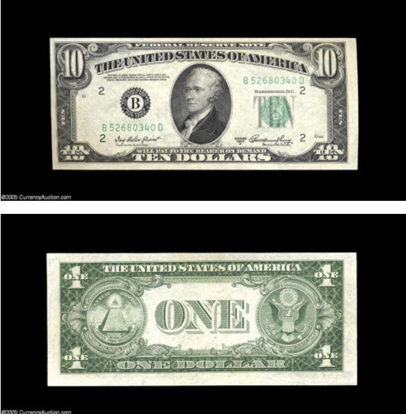 How Much Is A 1950 10 Dollar Bill Worth Is It Uncommon Quora