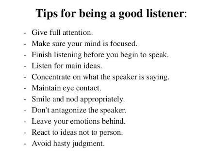 ways to be a good listener