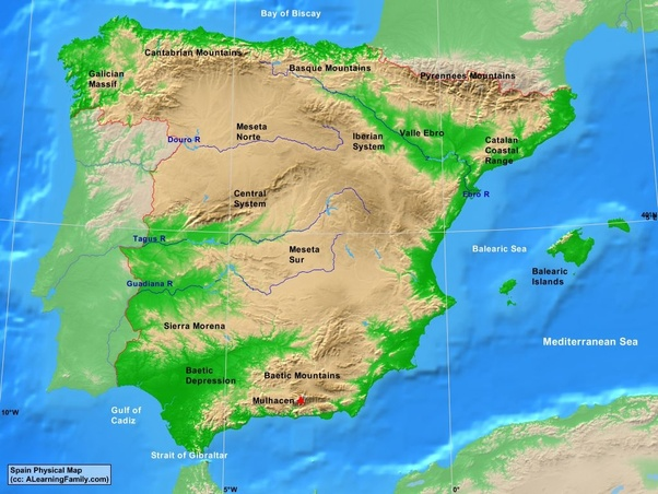 Map Of Spain Ebro River.What Is The Longest River In Spain Quora