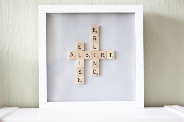 A Quirky Desk Accessory Featuring The Recipients Name In Scrabble Letters Is Perfect Choice Of Unique Birthday Gifts For Coworkers