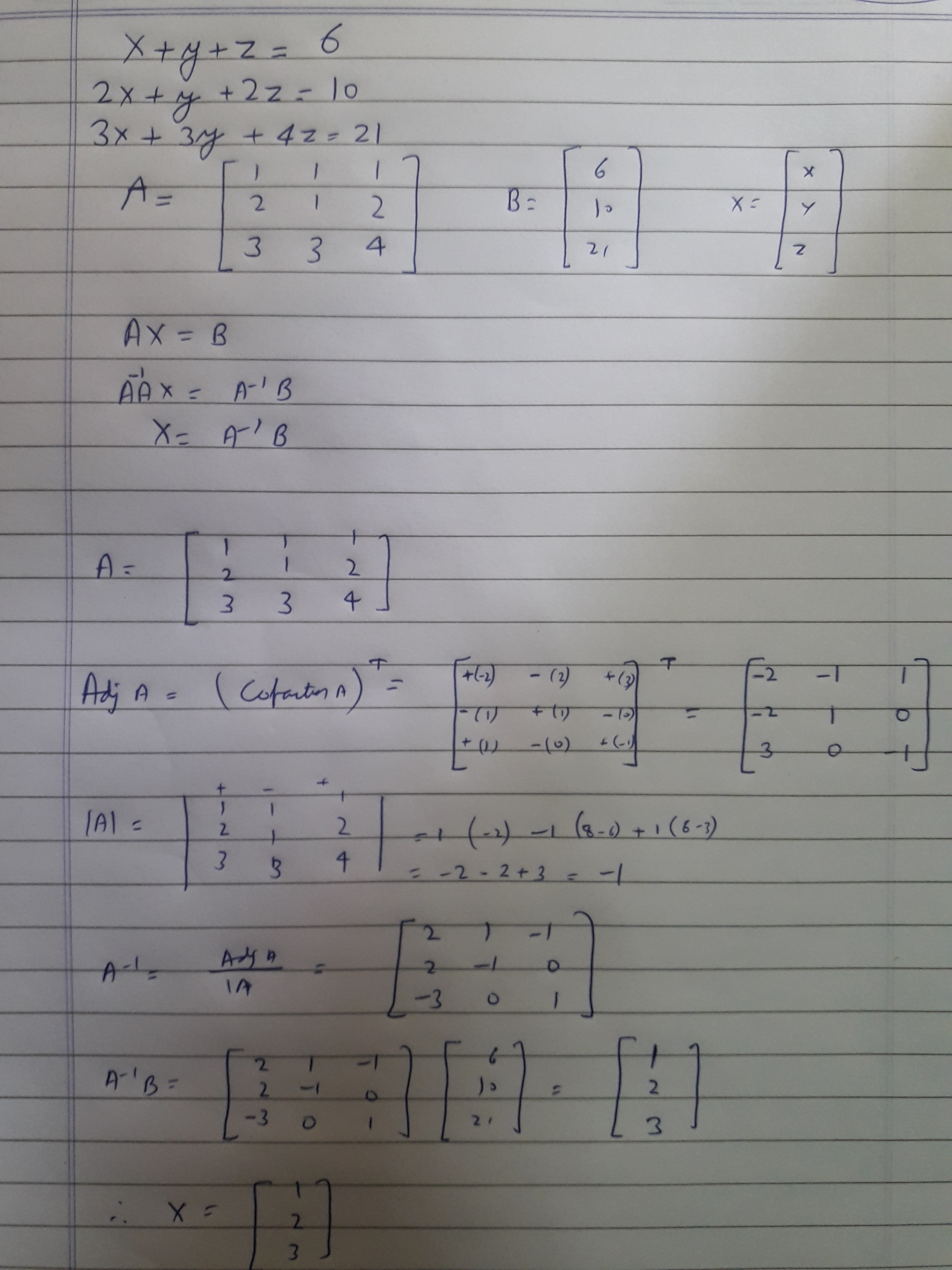 How To Transform The Linear Equations Xyz6 2xy2z10 3x3y
