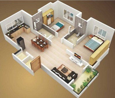 Simple Independent 2bhk Home Designs