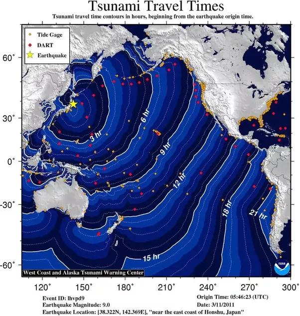 what happens before a tsunami hits