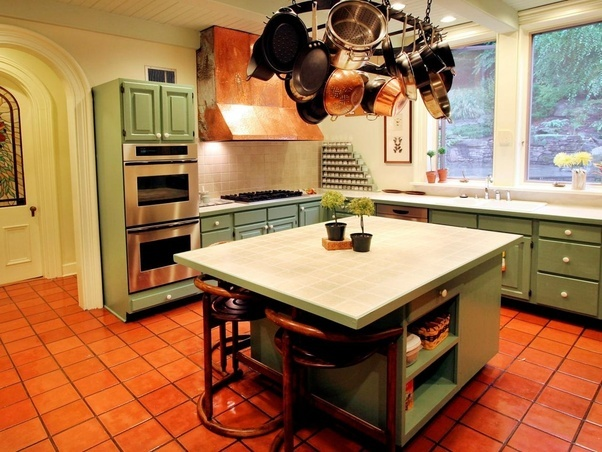 Which Color Combinations Of Kitchen Cabinets Goes Well With Red