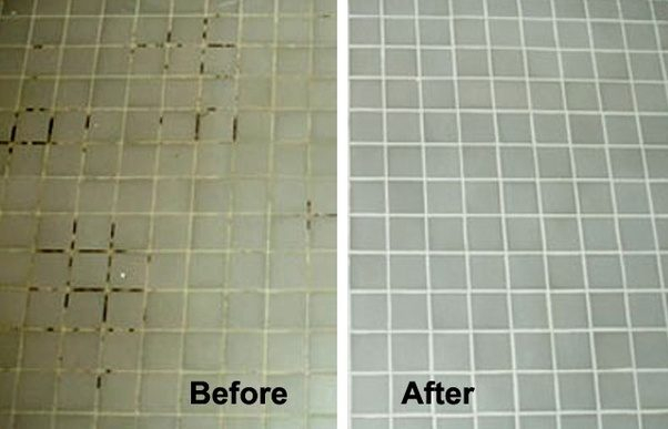 What is the best way to clean off hard water stains from - How to clean old bathroom floor tiles ...