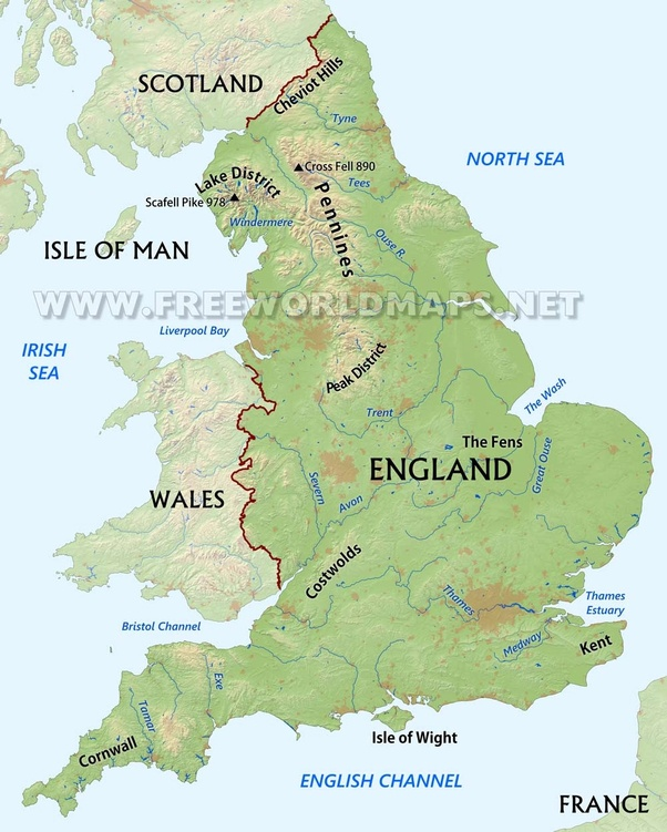 Country Map Of England.Are England And Britain In The Same Country Or Is The