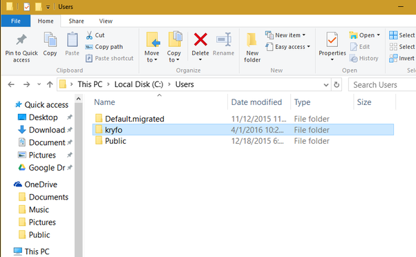 how to delete users folder with powershell