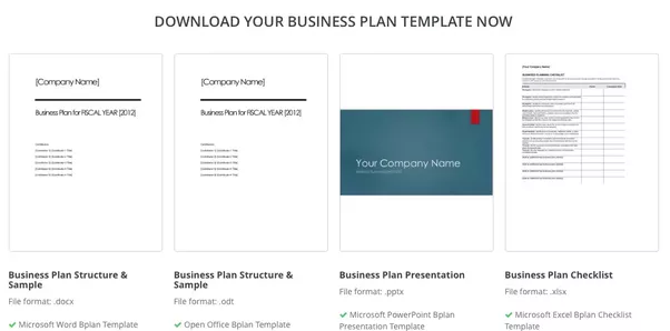 Where Can I Find A Good Business Plan Template For My New Startup - Business plan for startup template