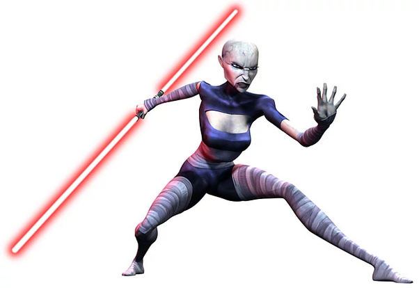Image result for asajj ventress with double blades