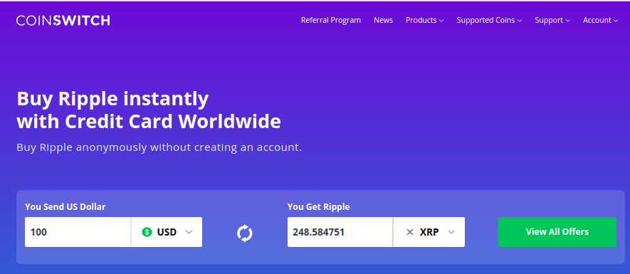 buy ripple cryptocurrency with credit card
