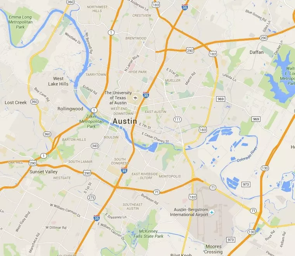 What Is The Name Of The River That Runs Through Austin, TX
