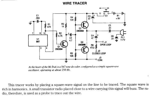 wiring circuit finder circuit diagram symbols u2022 rh stripgore com wire short circuit finder Circuit Tester