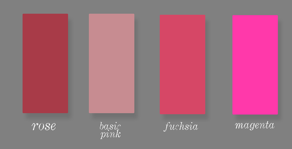 Fuschia vs hot pink