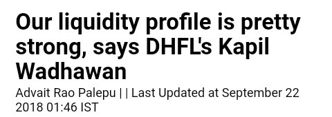 Clarification from DHFL