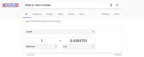 What Is 1mm In Inches Quora