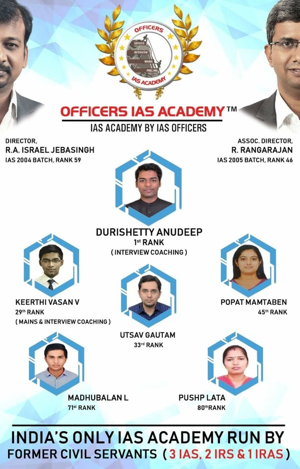 Which is better -Officers IAS academy or Shankar IAS academy