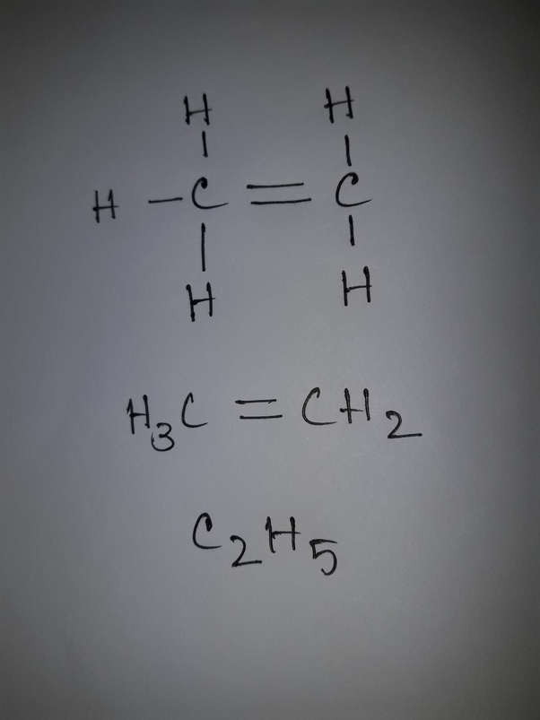 What is the structure of C2H5? - Quora