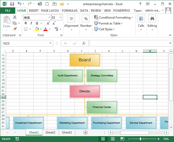 how to create a data linked org chart in excel quora. Black Bedroom Furniture Sets. Home Design Ideas