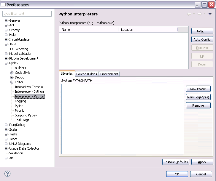 How to set up Eclipse with PyDev and the Python (3 5) interpreter