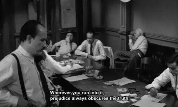 12 angry men prejudice and bias Film 12 angry men displayed strong, clear example of a group that formed to meet the tasks / purposes and subsequent issues involved in completing a given task 12 members of the jury experience through the process of being formed, attack, norm, performing and postpone.