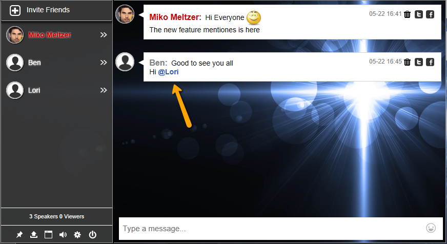 How to embed a live group chat for a website chat room with HTML