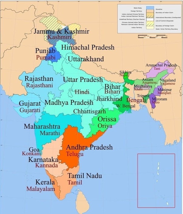 Why is hindi not an official language of singapore quora see the state at the southeast corner right at the bottom thats tamil nadu the state is about 1800km northwest of singapore making it the closest gumiabroncs Gallery