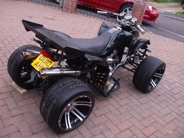 Why aren't there any 4 wheel motorcycles the size of atvs ...