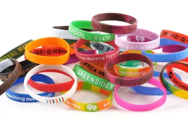 Rubber Bracelets With Their Own Tag Or Message You Can Make Your By Customizing It Online The Color Text Size And Font Of Choice From