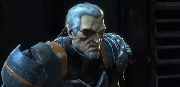 what does slade wilson deathstroke look like without his
