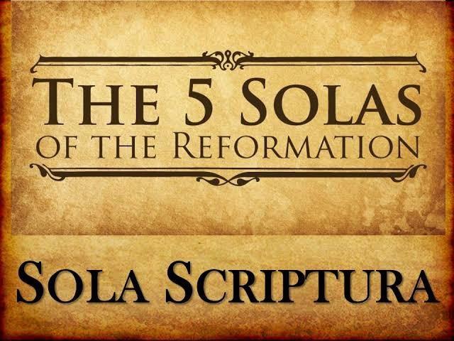 Arti dari sola fide sola gratia sola scriptura