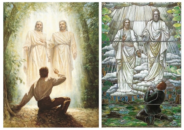 Joseph Smith in his first vision states he saw an angel