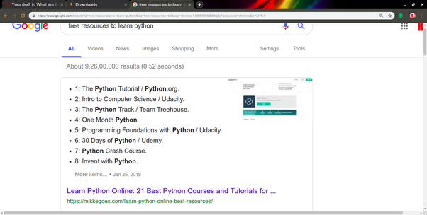 best free online resources to learn python
