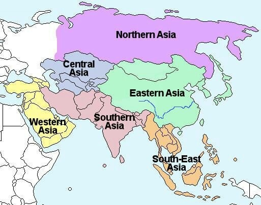 North West Asia Map.Is North Asia In The Middle East Quora